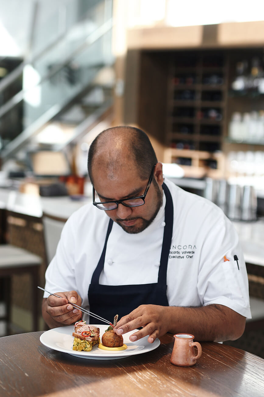 Executive Chef Ricardo Valverde doing the final touches | Photo provided by SMC Communications