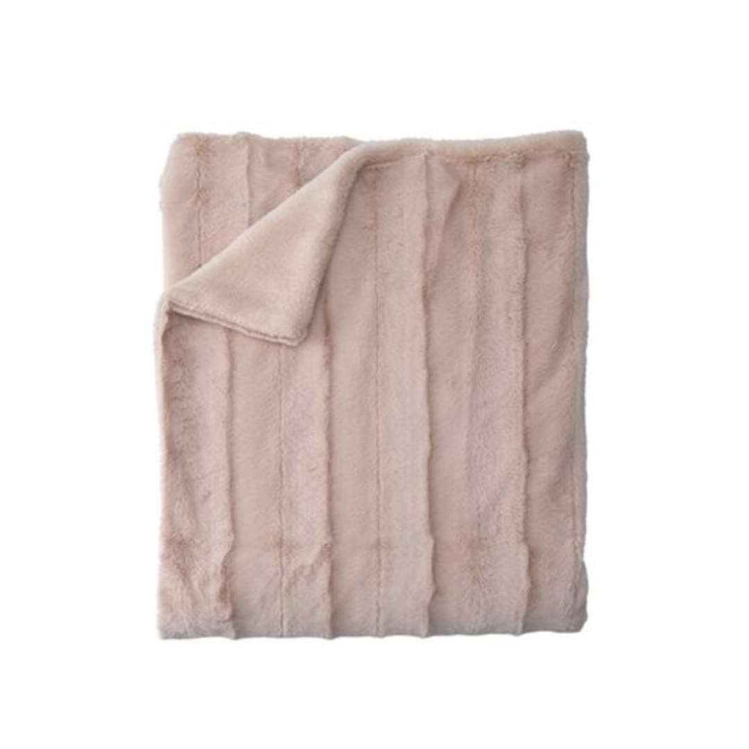 THROW+LUXE+FAUX FUR+DUSTY+ROSE+