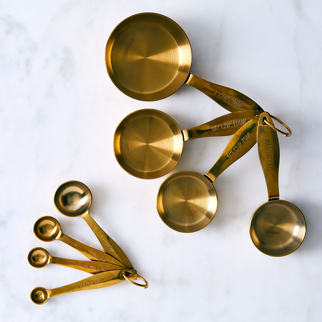 heavy+weight+gold+measing+spoons+set