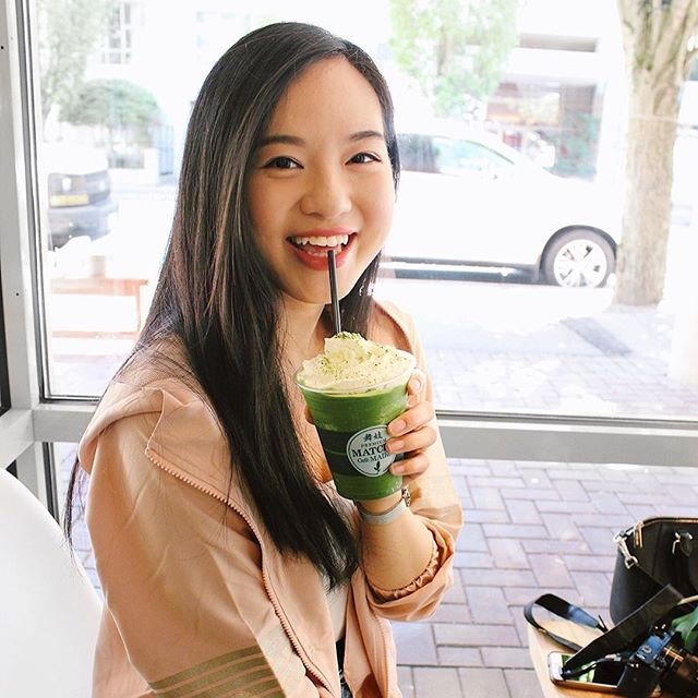 THE FACE WE MAKE WHEN YOU SAY DESSERT 😁⁣⁣ ⁣ 💭 Are you the same??⁣ ⁣⁣ 📸: our fav 🐨 @withnatwong of @matchacafemaikocanada Matcha Frappe