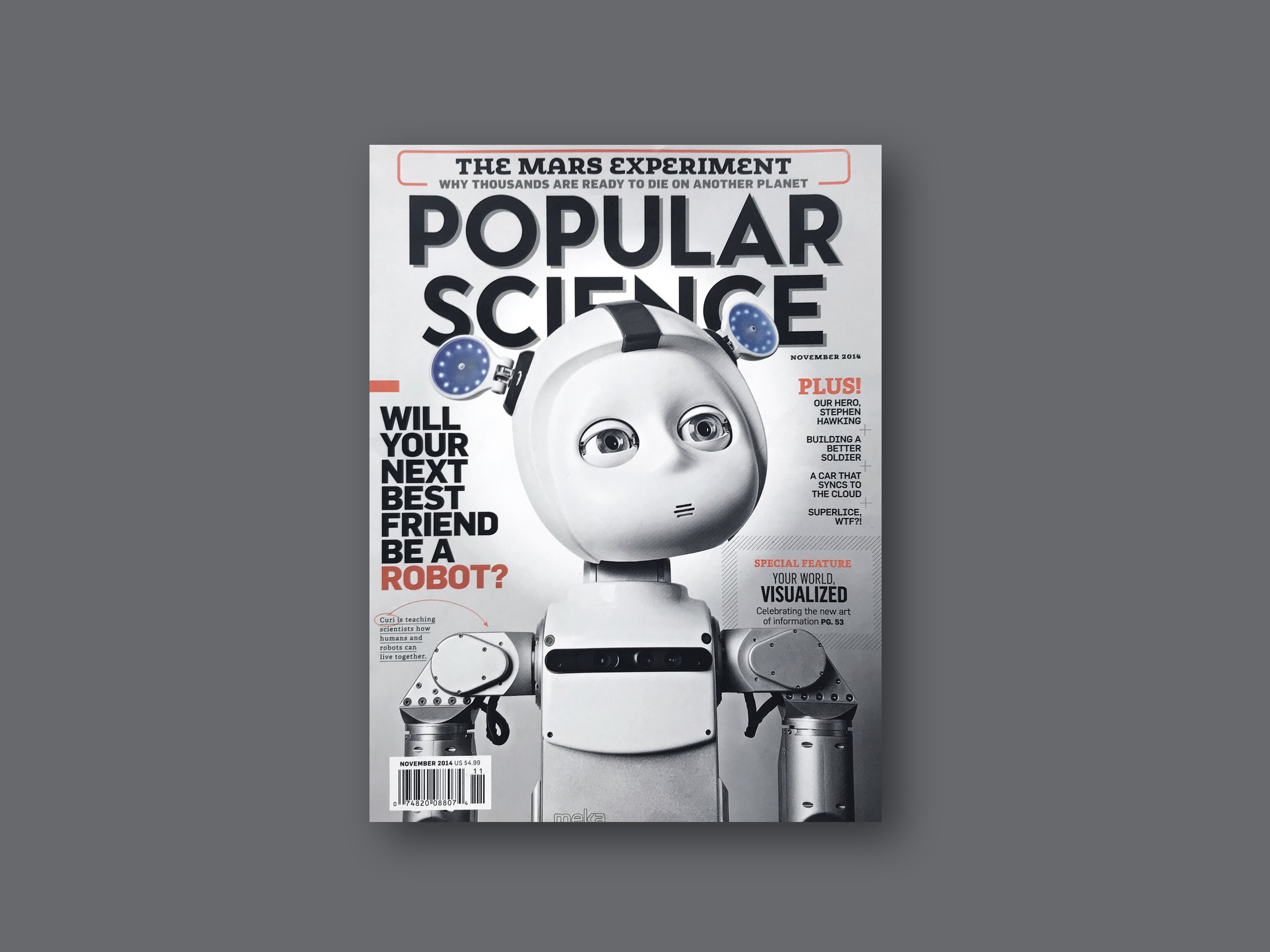 2014   Popular Science  (US) ' Friend for Life'