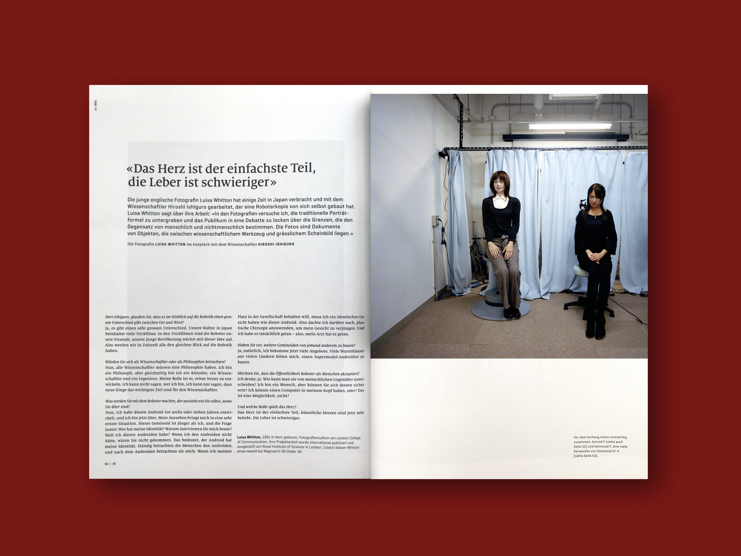 2016   DU Magazine  (CH) Issue 863, ' Zukunft'