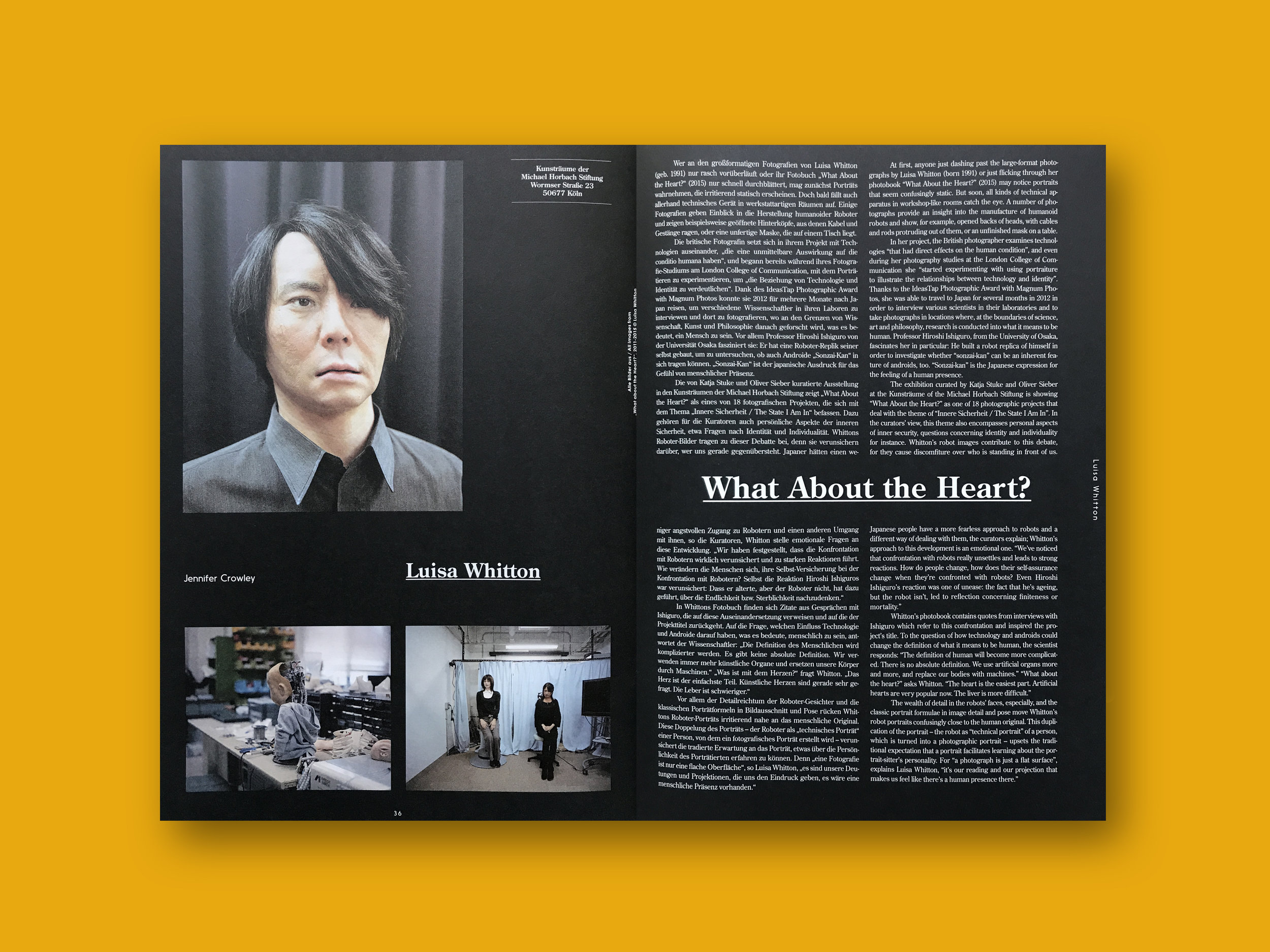 2016 Photoszene Internationale,  (DE) Issue 3, ' The State I am In'