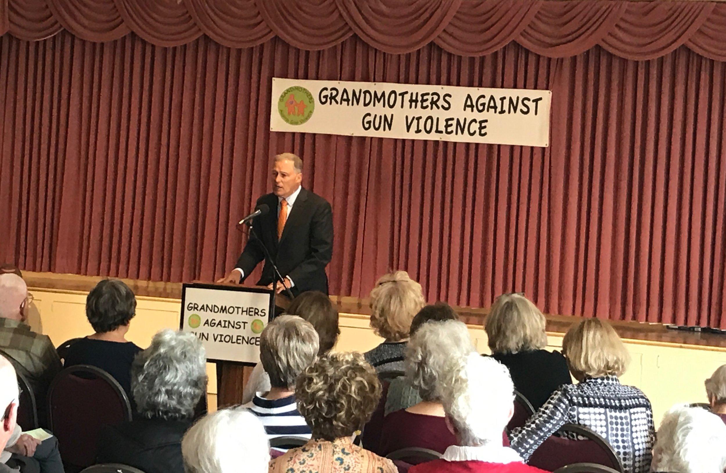 Governor Jay Inslee addresses Grandmothers
