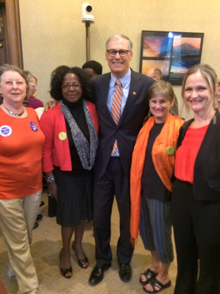 Grandmothers and Cathy Munsen with Governor Inslee