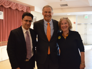 Dr. Rowhani-Rachbar, Governor Inslee, and Margy Heldring