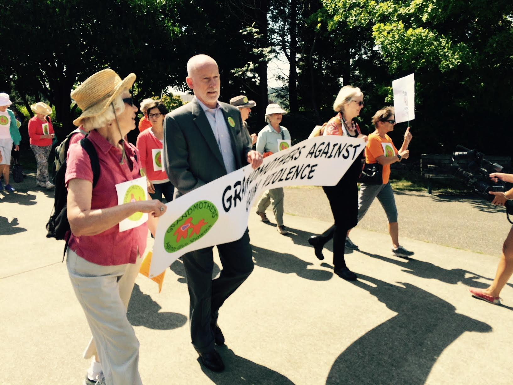 Marching to City Hall with (then) City Council President, Tim Burgess.