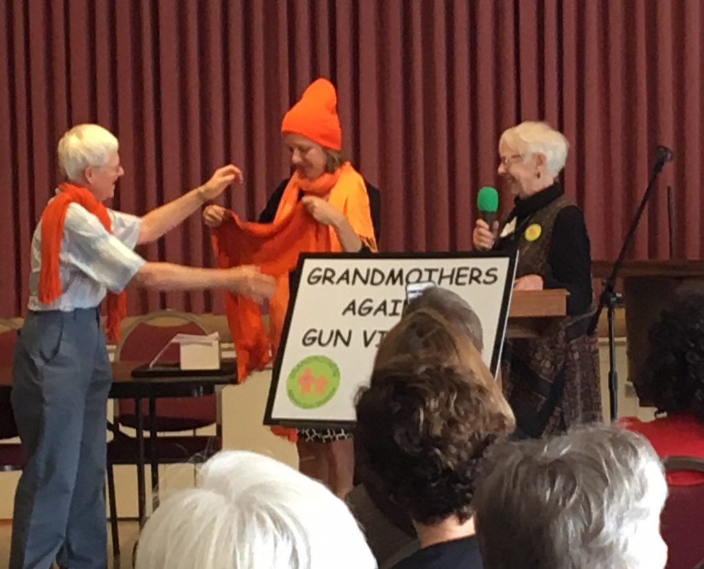 Grandmothers honoring our former Attorney, Averil Rothrock with a lifetime membership award.