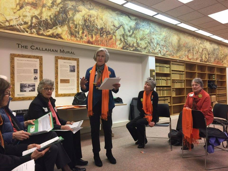 Briefing before heading to our legislators — with  Judy McBroom  in  Olympia, Washington .
