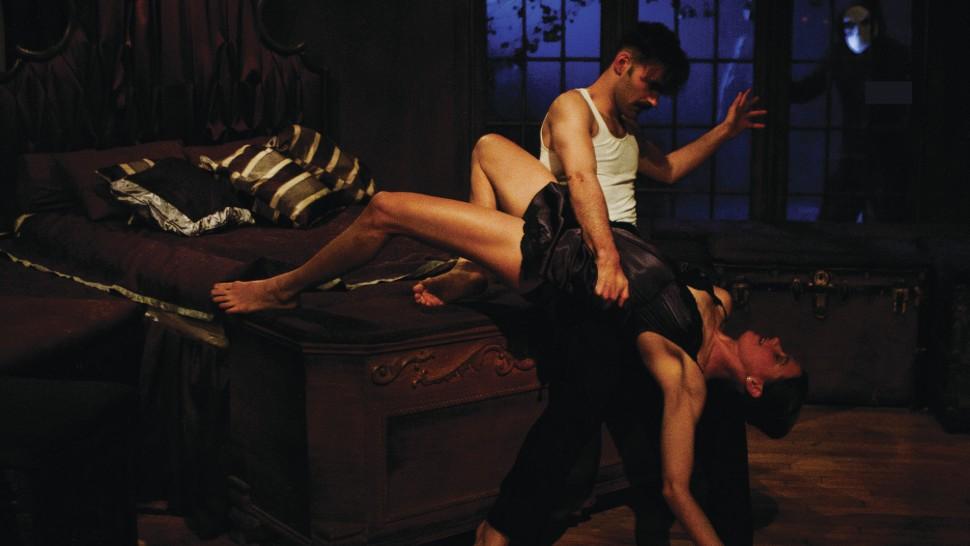 Nicholas Bruder and Sophie Bortolussi in  Sleep No More  The O & M Co/Yaniv Schulman)