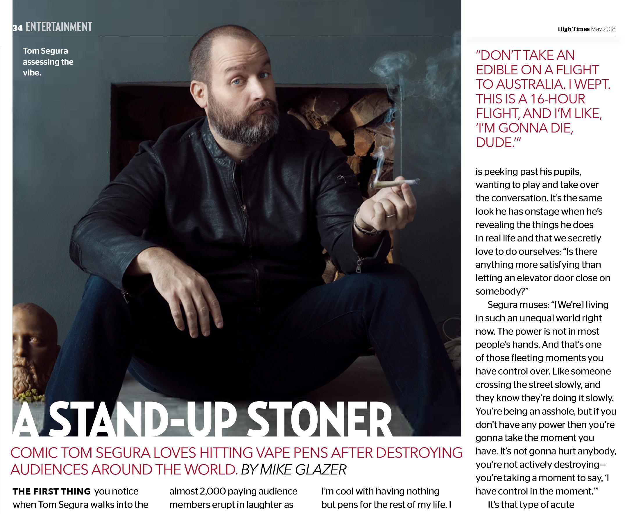 Tom Segura By Lauren Hurt for High Times Magazine