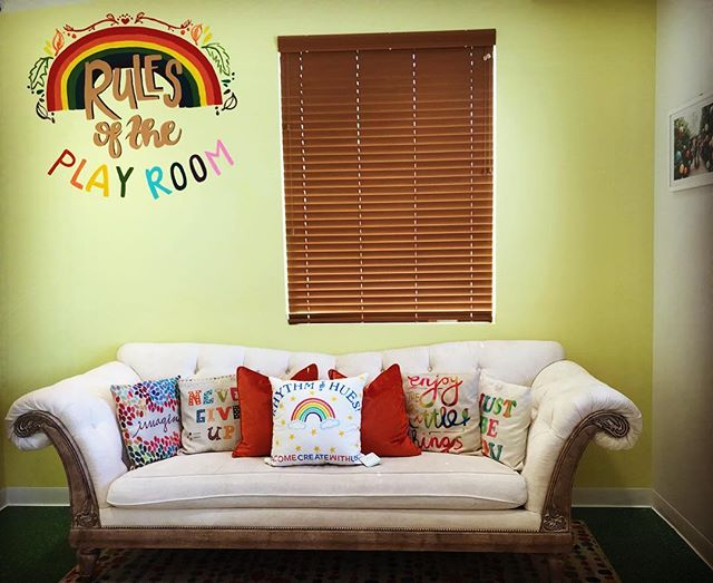 I spy our amazing new rainbow #rhythmandhues pillow by @palmbeachprints 🤗🌈❤️ We love supporting our #mompreneur clients!  Order your custom pillow for holiday gifts and you'll be so happy you did!
