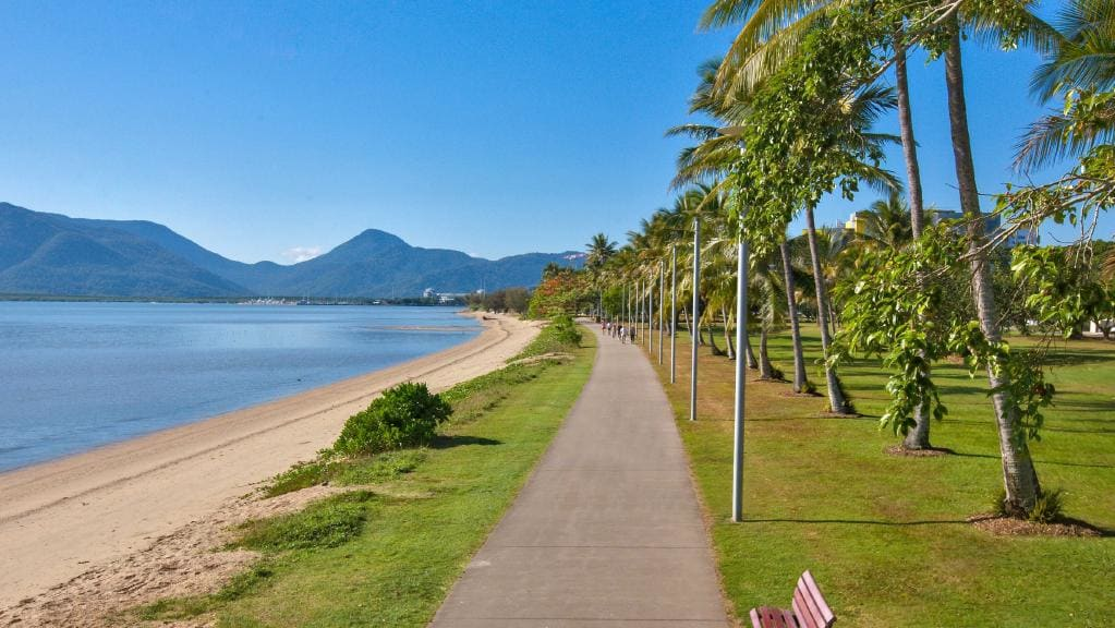 Cairns Esplanade..During dry season! Credit: Cairns Post