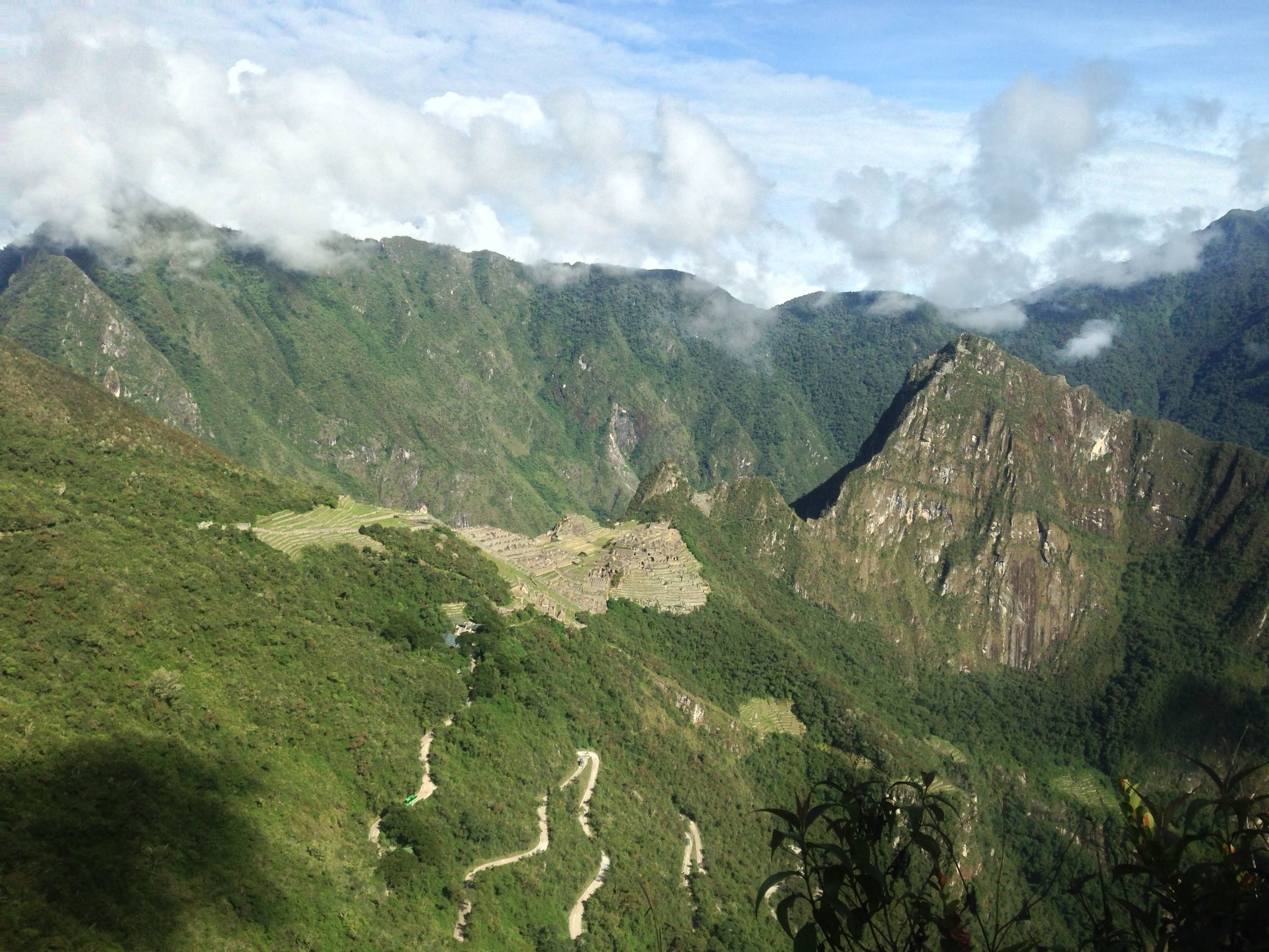 View of Machu Picchu from the Sungate