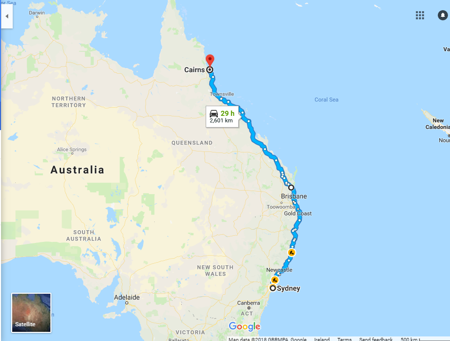 Sydney to Cairns