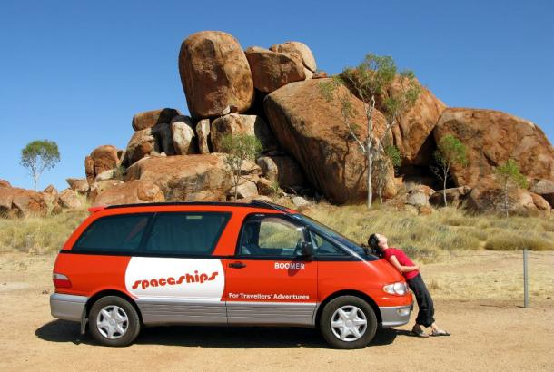 Spaceships Alpha at The Devils Marbles, NT
