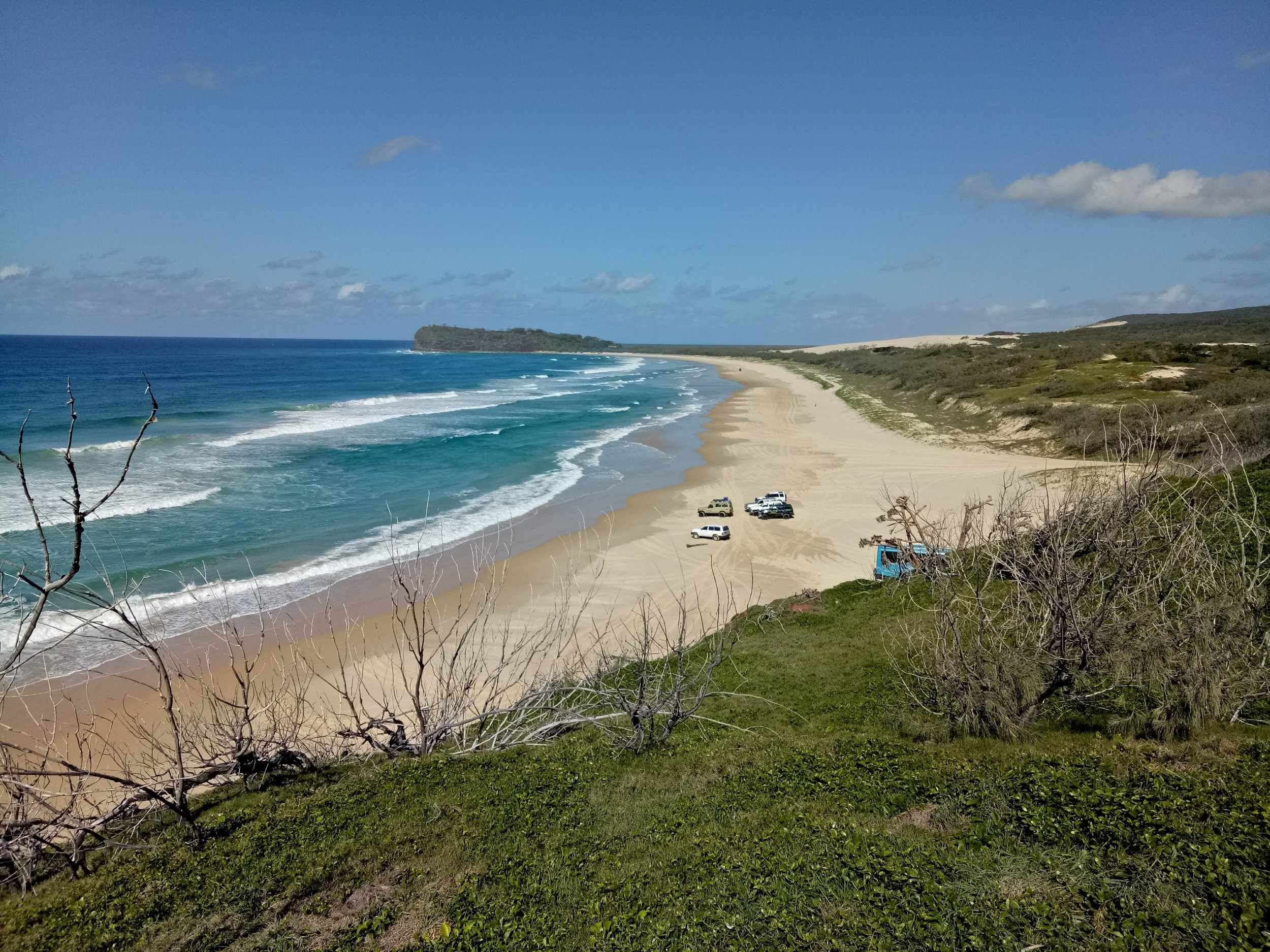 4x4s from the Champagne Pools boardwalk