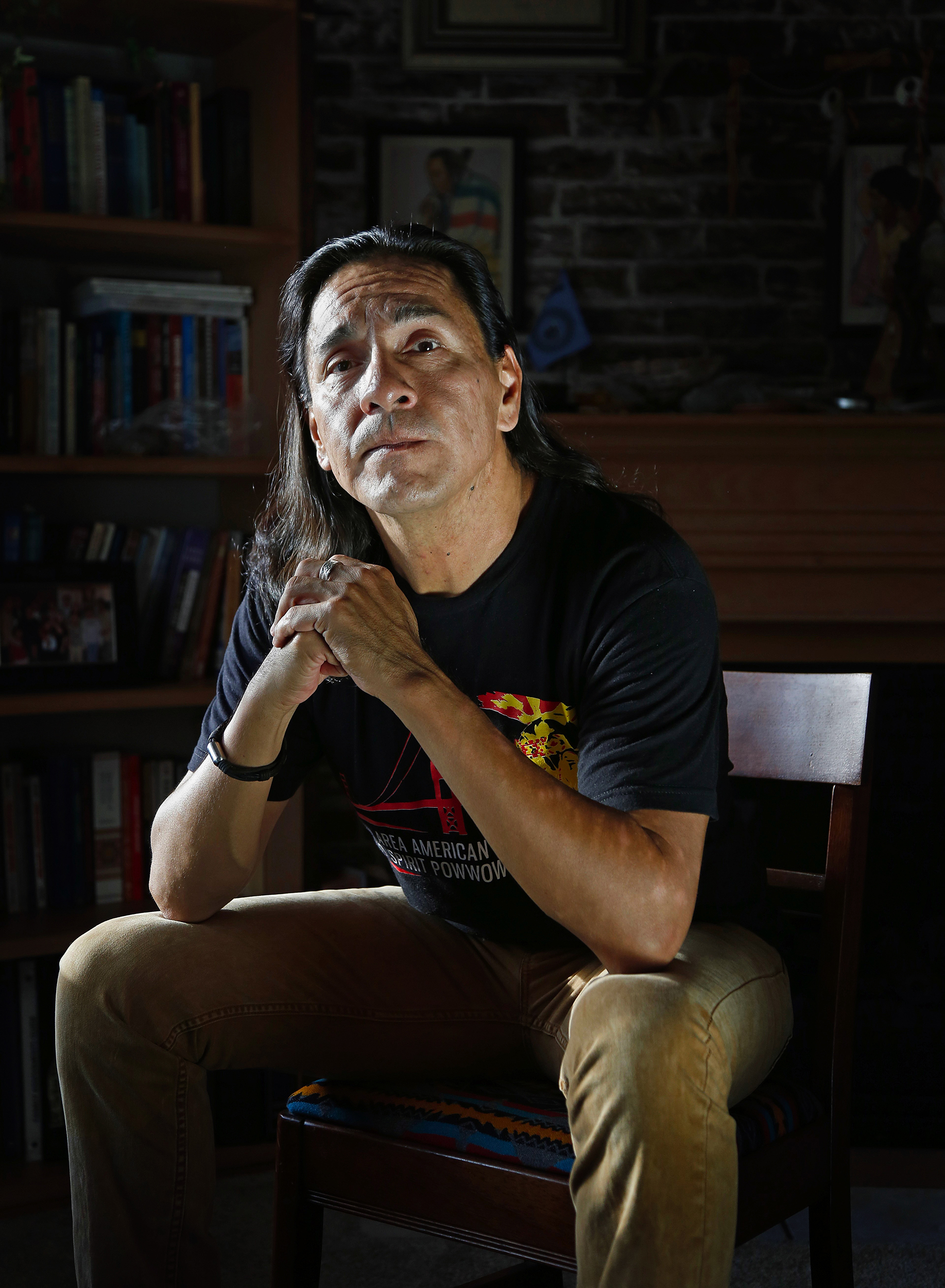 Raven Heavy Runner, a Native American who identifies as Two-Spirit, which is an early equivalent of LGBTQ that played a ceremonial role in some Native American tribes, Thursday, Aug. 27, 2015. Although much of the understanding of this identity has been lost due to cultural assimilation, there has been a resurgence since the 1990s. (Sy Bean / The Seattle Times)