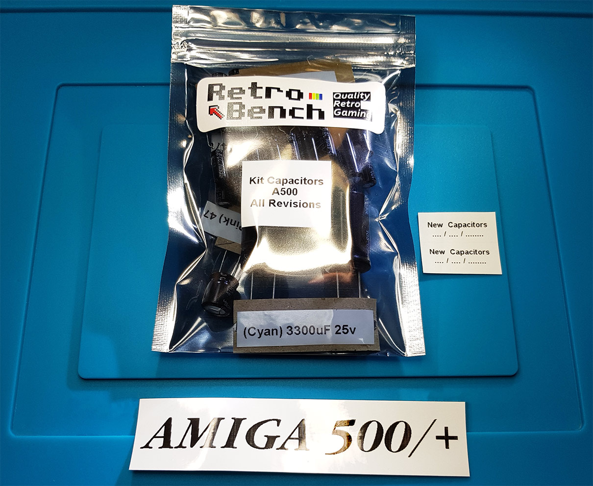 AMIGA 500 /& 500 LowESR Capacitors Kit for all mainboard revisions High Quality