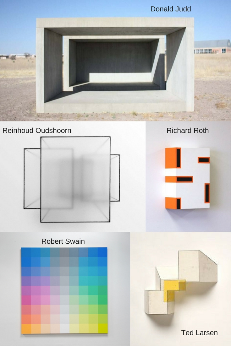 Artists I have discovered a little more recently - Donald Judd, Reinhoud Oudshoorn, Richard Roth, Ted Larsen and Richard Swain