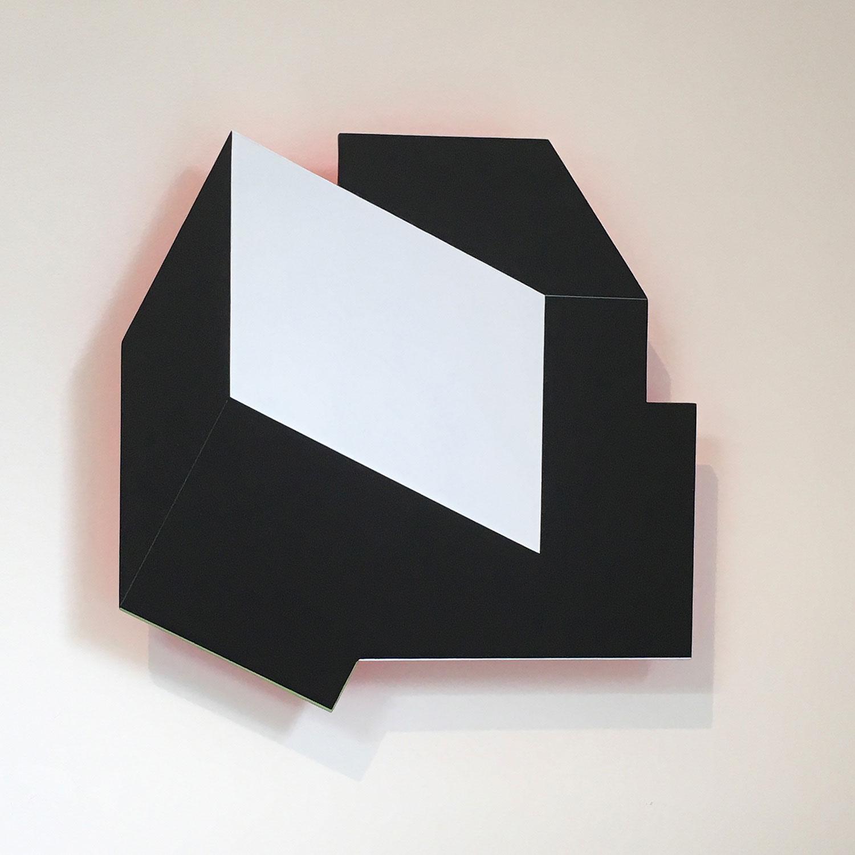 Facet - original shaped painting/wall sculpture by Amanda Wilkinson (amandawilkinsonart.com)