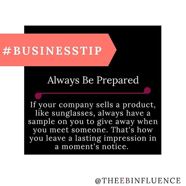 You NEVER know who you'll meet, especially when you're travelling around. If your product is small enough to carry, keep at least one with you at all times. #TuesdayTips #BusinessTips . . . . . . . . . . . . . . . . #Selfemployeed #entrepreneur #entrepreneurship #blackbusiness #Blackownedbusiness #businessowner #blackbusinessowner #smallbusiness #smallbusinessowner #business #marketing #startup #thrive #growthhack