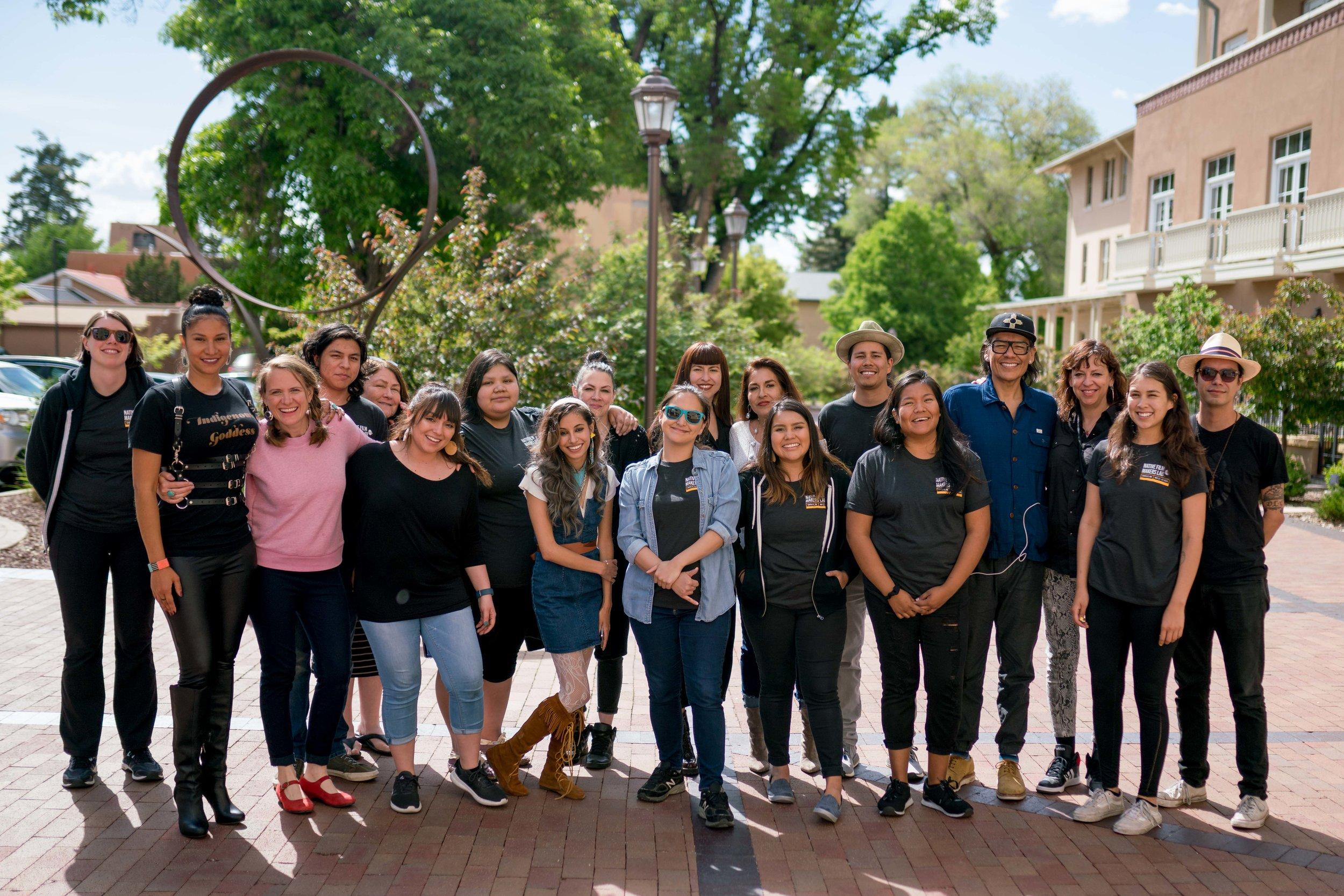 "2019 Sundance Institute Native Filmmaker Lab where Shane was a Peer Advisor.   © 2019 Sundance Institute | Photo by Austin Madrid"""