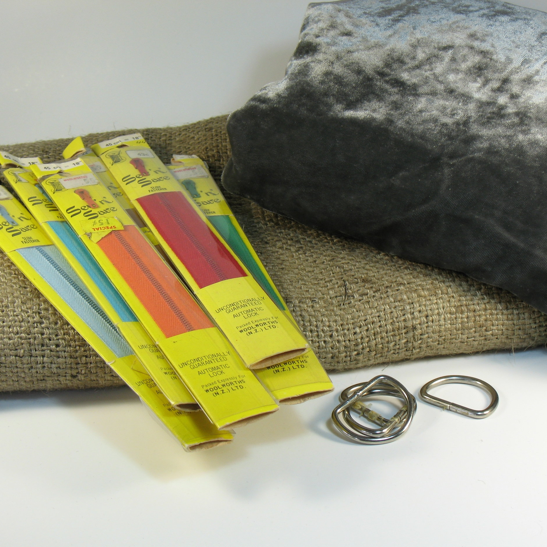 Saving vintage components and up-cycling materials and hardware to save it from landfill and reduce fashion industry waste
