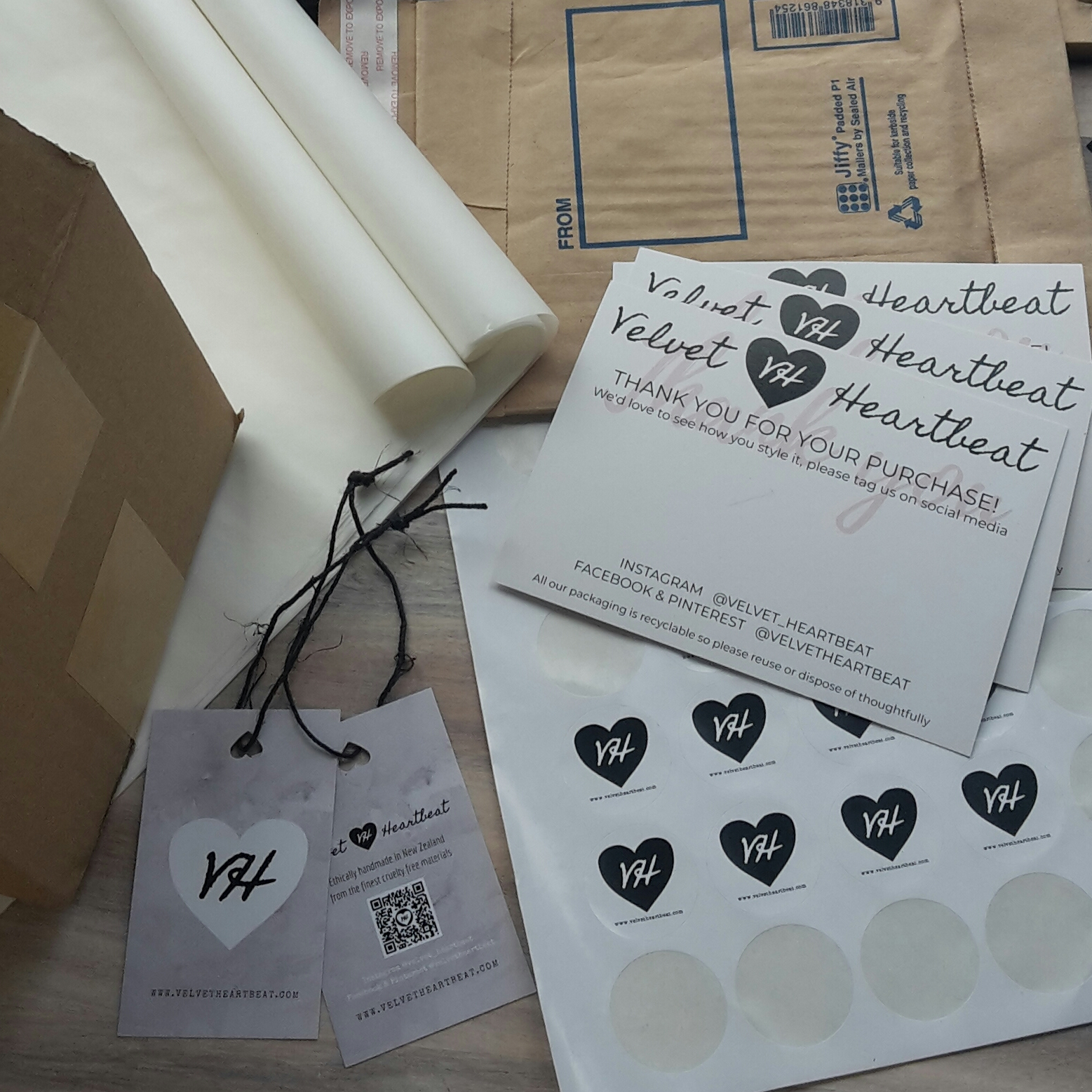 Velvet Heartbeat packaging can be recycled