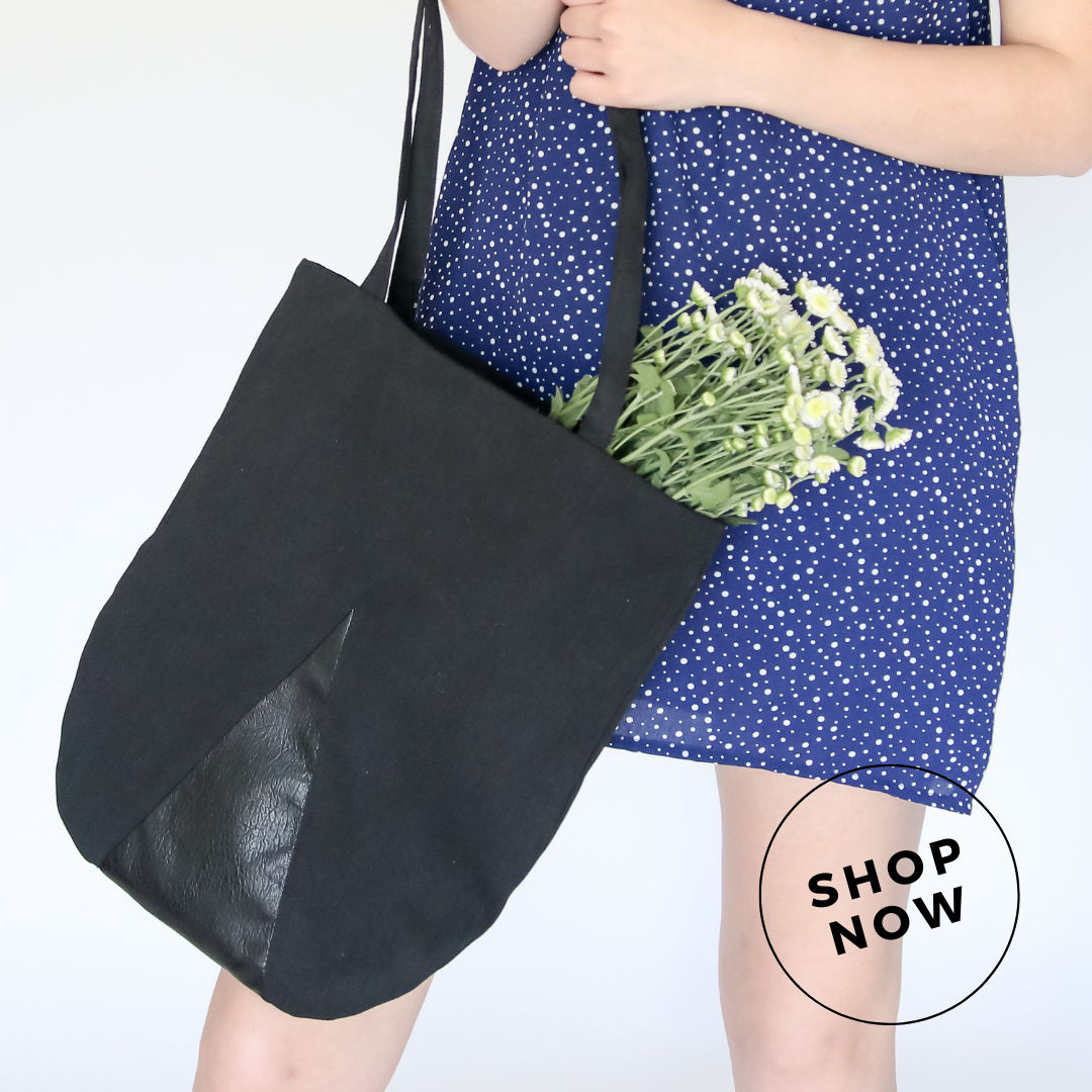 Donna Tote   This fully lined denim and faux leather tote bag is the perfect grab and go companion for a quick trip to the shops. Fully lined with an inside zip pocket so she don't lose her essentials   $72.00