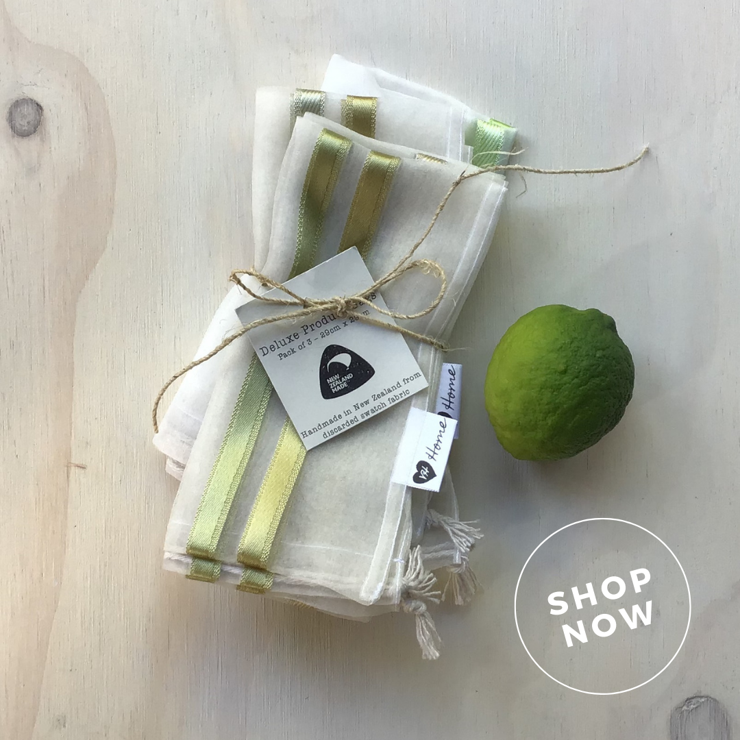 Deluxe Produce Bags   These zero-waste cuties come in a range of beautiful shades and are made from super light fabric so they won't tip the scales at the checkout. Perfect for bringing mum's veges or bulk foods home without single use plastic!  $25.00 (pack of 3)