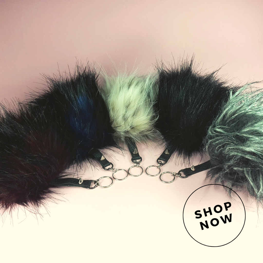 Faux Fur Poms   Is your mum a bit extra but always losing her keys? These sweet handmade pom pom keyrings will be just the answer! Available in two sizes and a big range of colours too!   $20.00 - $22.00