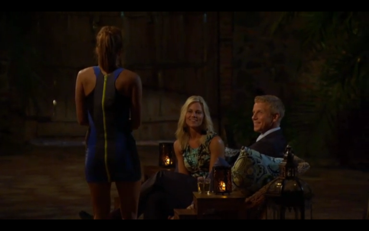 That's Kacie's dress, the one with the HUGE NEON ZIPPER in the back.