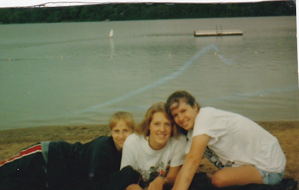 The KKA (Kim, Katy, & Amber) at our fave, Lake Beauty Bible Camp, the summer before our Junior year.
