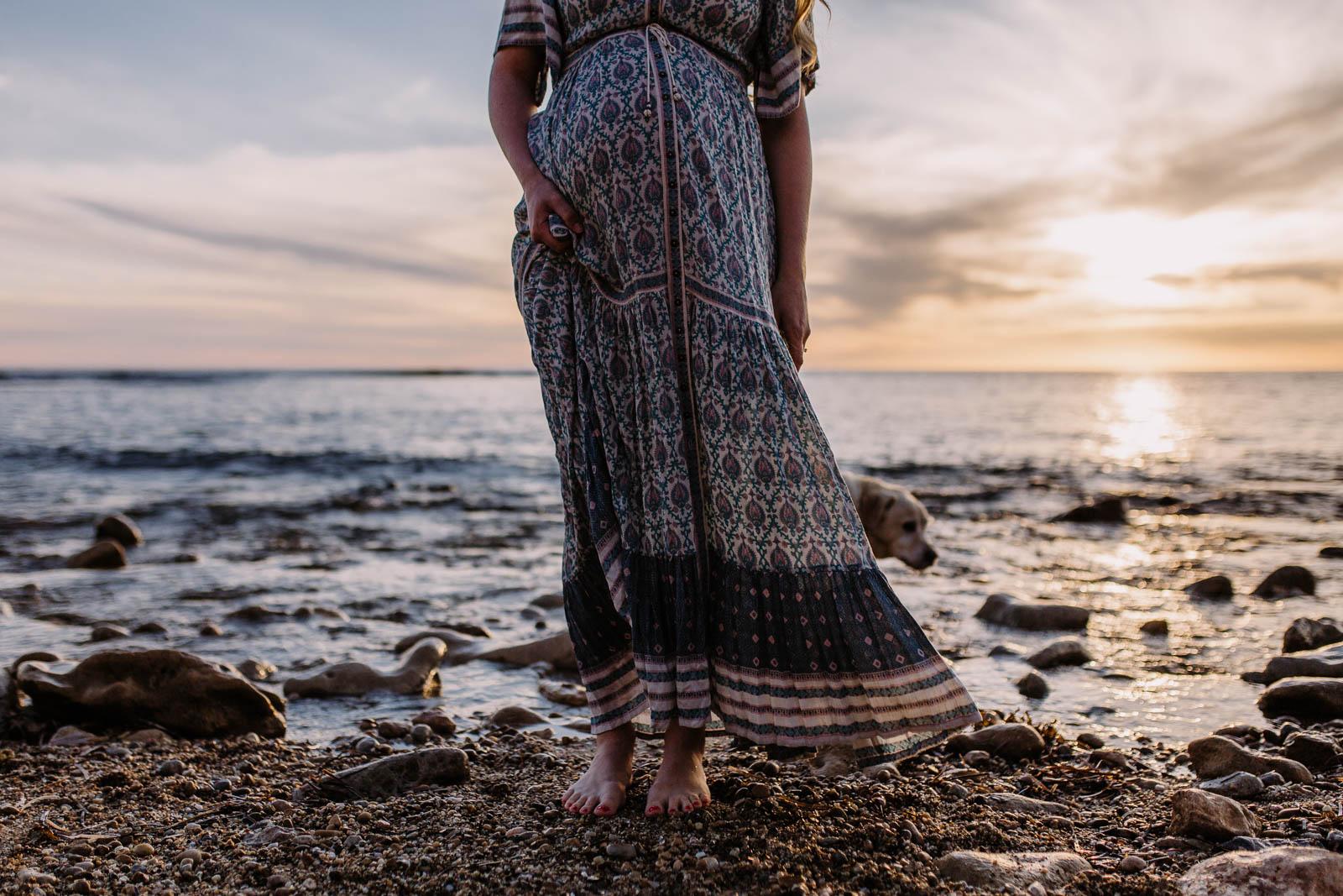Beach Maternity Photos Carrie Jones Photography Adelaide