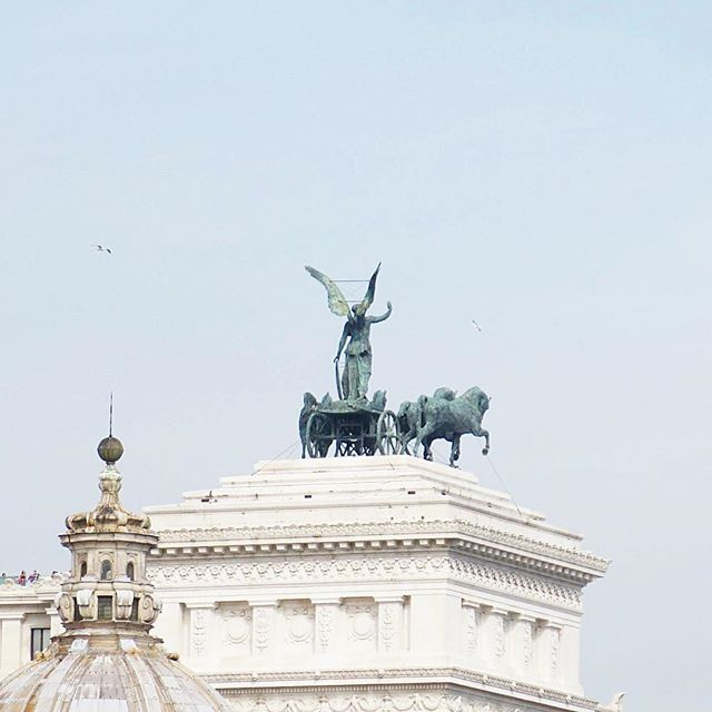 Here's a photo that I took of The Vittorio Emanuele II Monument in Rome a couple of years ago. 😊 This monument was built in honor of Victor Emmanuel II, the first king of a unified Italy.