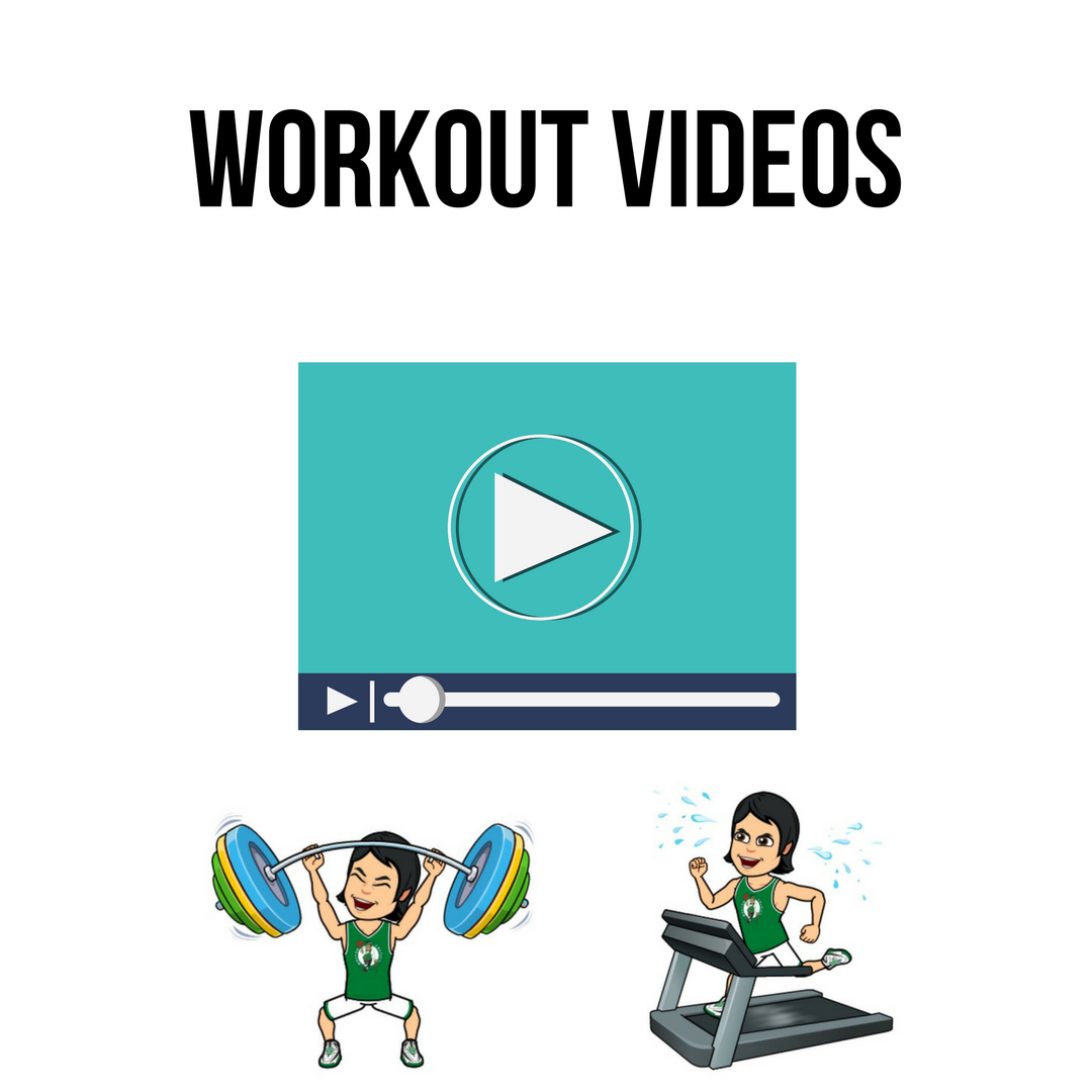 Sometimes seeing is understanding. This section holds particular videos for specialty workouts, warm ups, and cool downs. If there is a particular video you'd like me to showcase that's not here, please let me know so I can add it here for you.