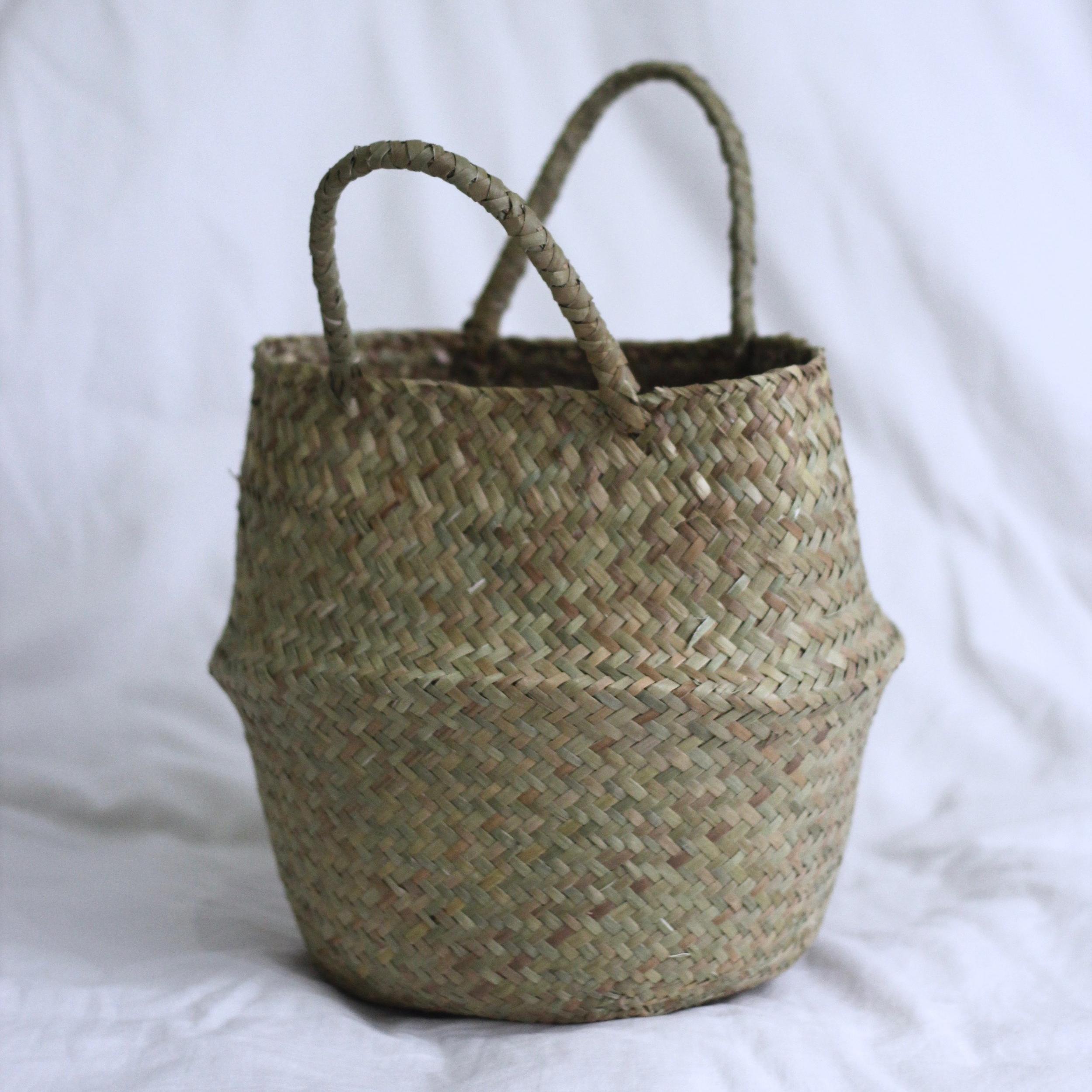 Straw Weaved Basket - Small 1.jpg