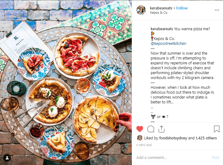 Kera Wong is one of many Sydney food bloggers with an Instagram account worth following