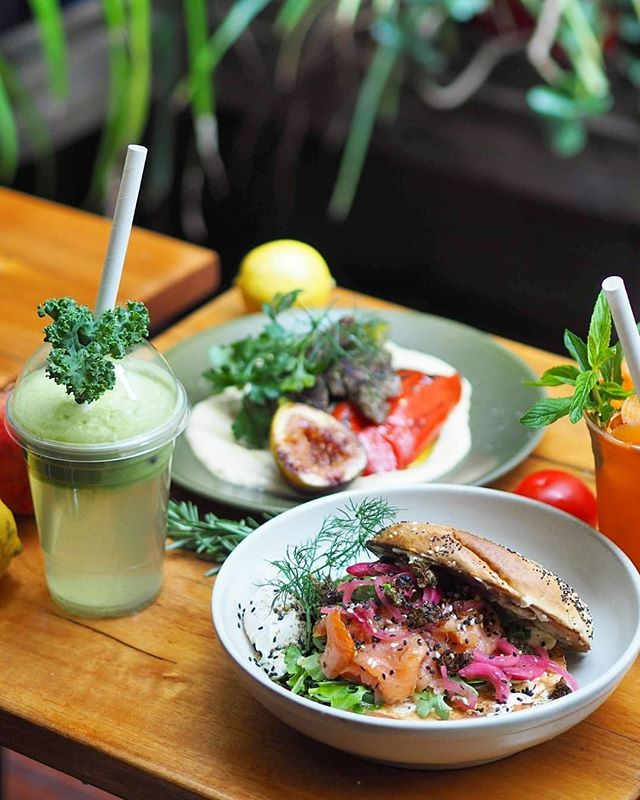 """""""The weekend is not just about sleeping in, but brunching out as well. When you brunch at Substation, make sure to grab the floral backyard seat at @substationcafe."""" Thanks for the post @hk.blogger  #bagel #juice #sydneycafes #healthylifestyle #breakfastclub #coffee #brunch #sydneycafe #alexandria #foodstagram #delicious #brunchclub #sydneyfoodshare #foodphotography #breakfastime #healthyfood #salmonbagel #foodstyling #sydneyfoodie #sandwich #foodporn #sydneyfood #foodie #breakfast #goodmorning #coffeetime #foodgram #beautifulcuisines #sydneyfoodblogger"""