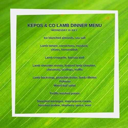 Don't want to watch the State of Origin this Wednesday night?  What else is on tv?  Masterchef, Border Security?  Why not book in for our lamb dinner this Wednesday night at Kepos & Co.  Sorry not the right menu for vegetarian friends but if you love lamb but this dinner is going to be delicious. ⠀ ⠀ Wednesday 10th July⠀ ⠀ 6.30pm arrival for a 7pm start⠀ ⠀ $70 p/p for chef's selection lamb inspired menu⠀ ⠀ For bookings call Kepos & Co on 9690-0931 or email bookings@keposandco.com.au  #keposandco #wednesdaynightdinner #notwatchingstateoforigin #lambdinner #sydneylocal #restaurantaustralia #waterloosydney #danksstreet #casbawaterloo
