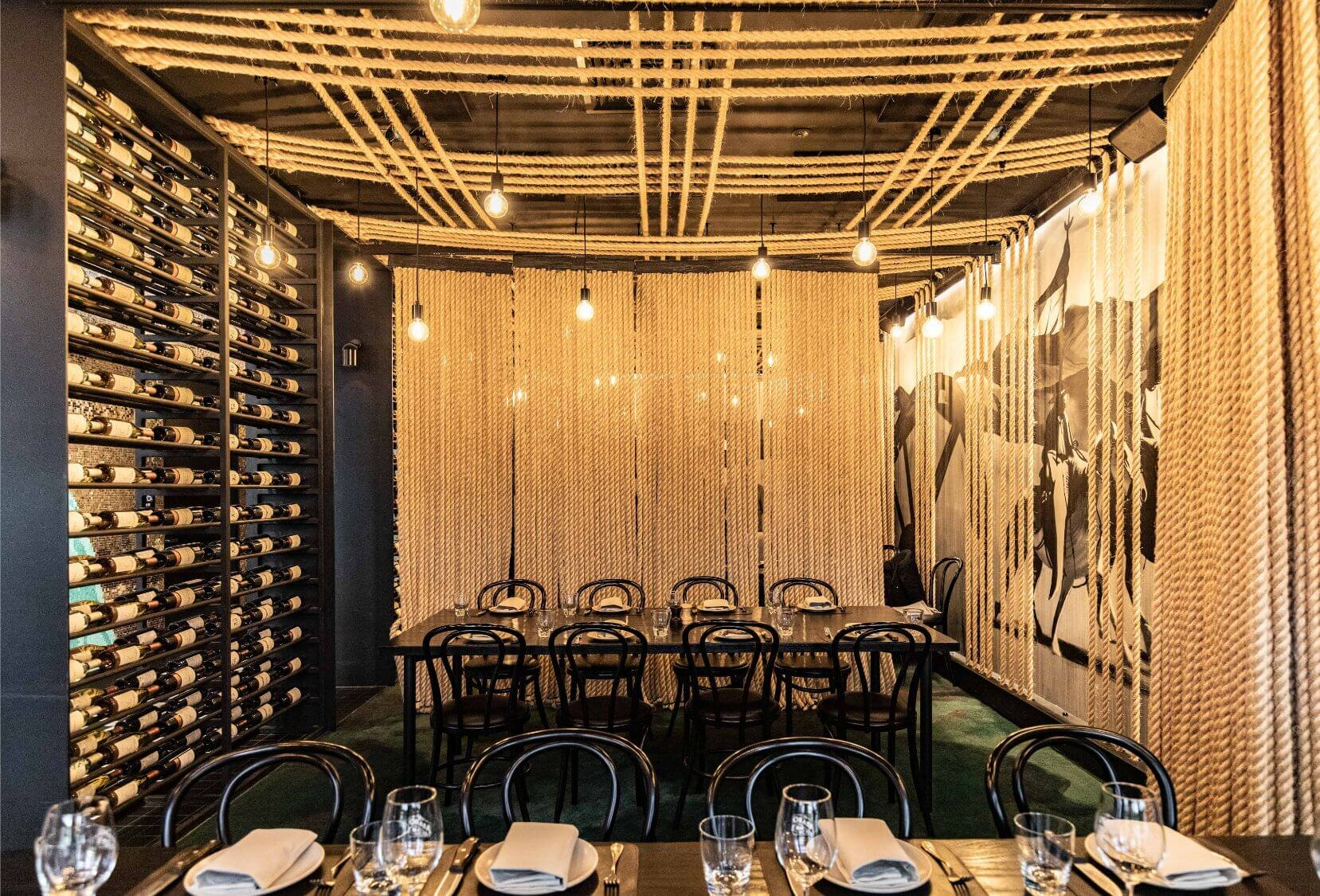 Function room at Asado, Melbourne