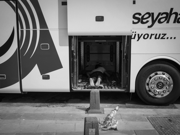 Even bus drivers feel like crawling into a hole occasionally, Istanbul.