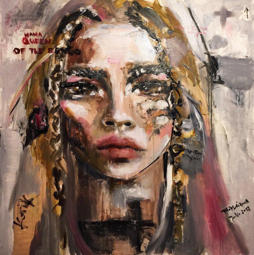 bongo / canvas, oil / 120x120cm / 2017