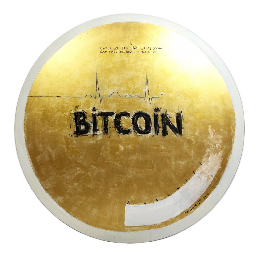 bitcoin poem IX / canvas, acrylic / D120cm / 2017