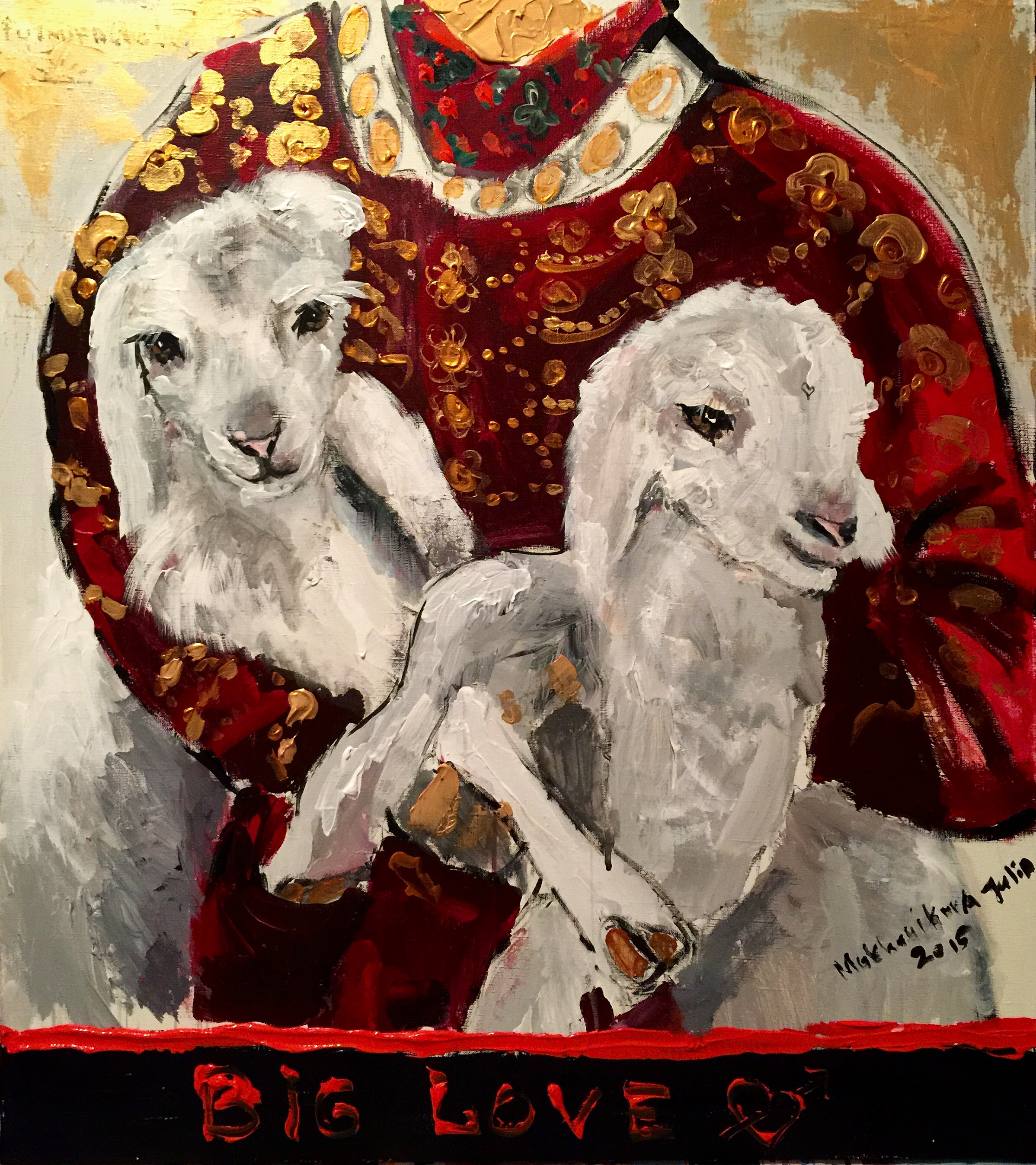 twins / canvas, acrylic / 100x100cm / 2015