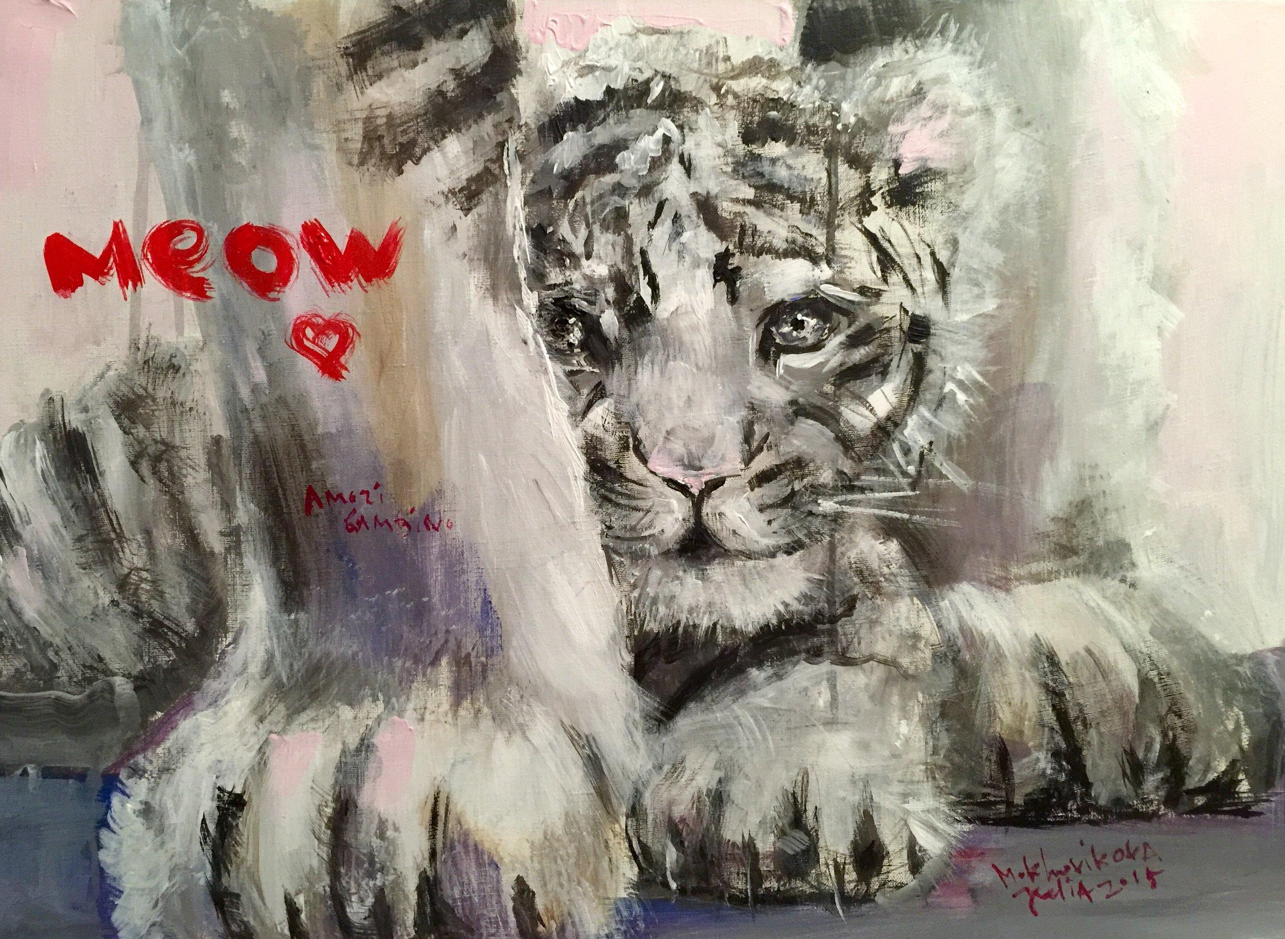 kotik / canvas, acrylic / 50x70cm / 2015