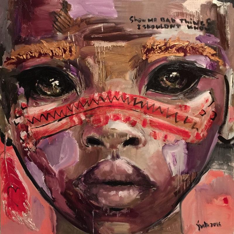 i like / canvas, acrylic / 100x100cm / 2016