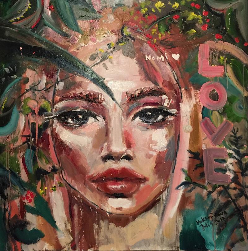 nomi / canvas, oil /100x100cm / 2017