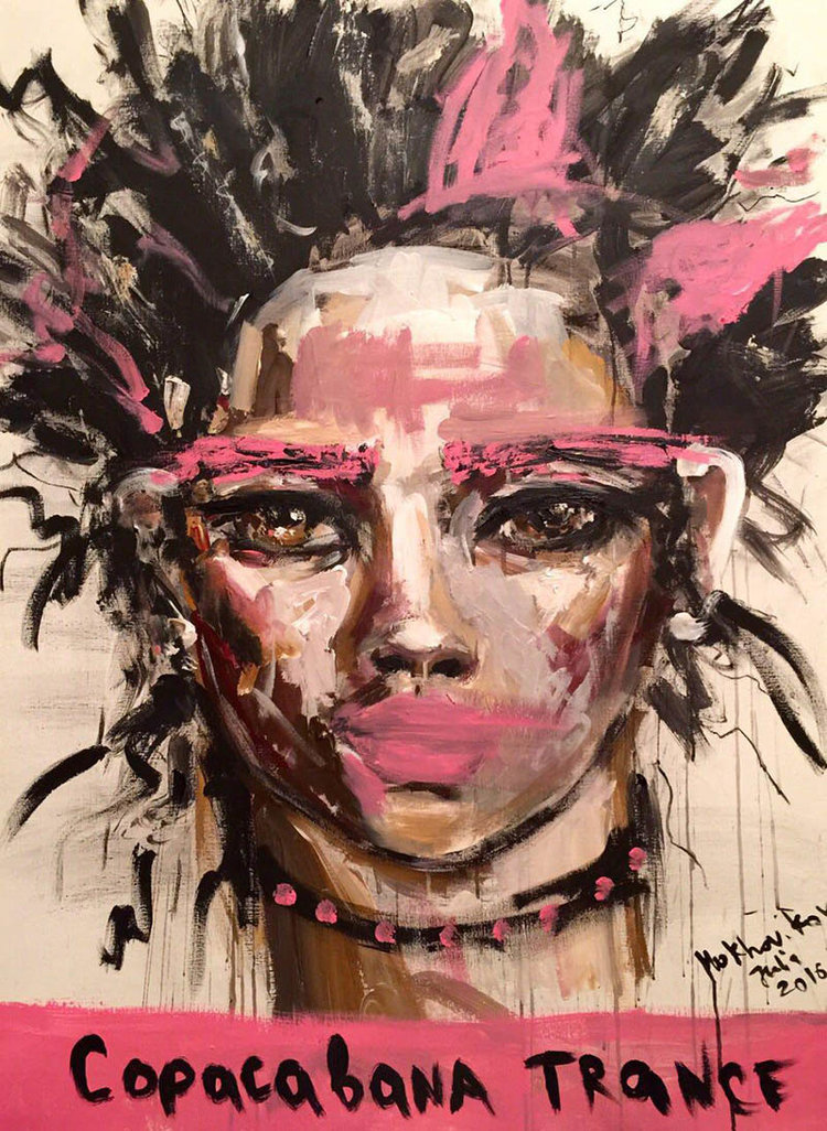 copacabana trance / canvas, acrylic / 120x90cm / 2016